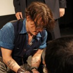 Johnny Depp wearing his Mister Freedom chemise Calico (Oct 2011)