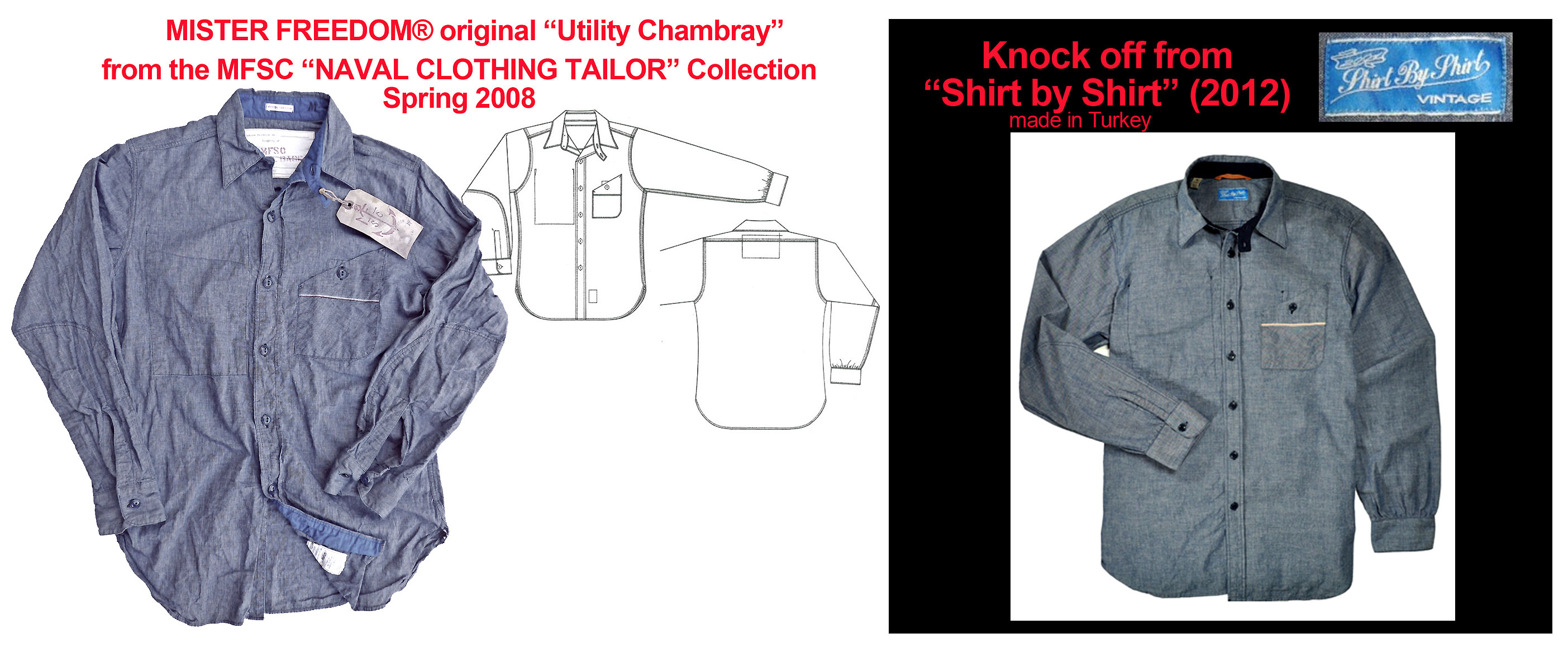 "2012 ""Shirt by Shirt"" knock-off of MF® Utility Chambray ©2008"