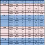 NOS Chambray Sizing Chart
