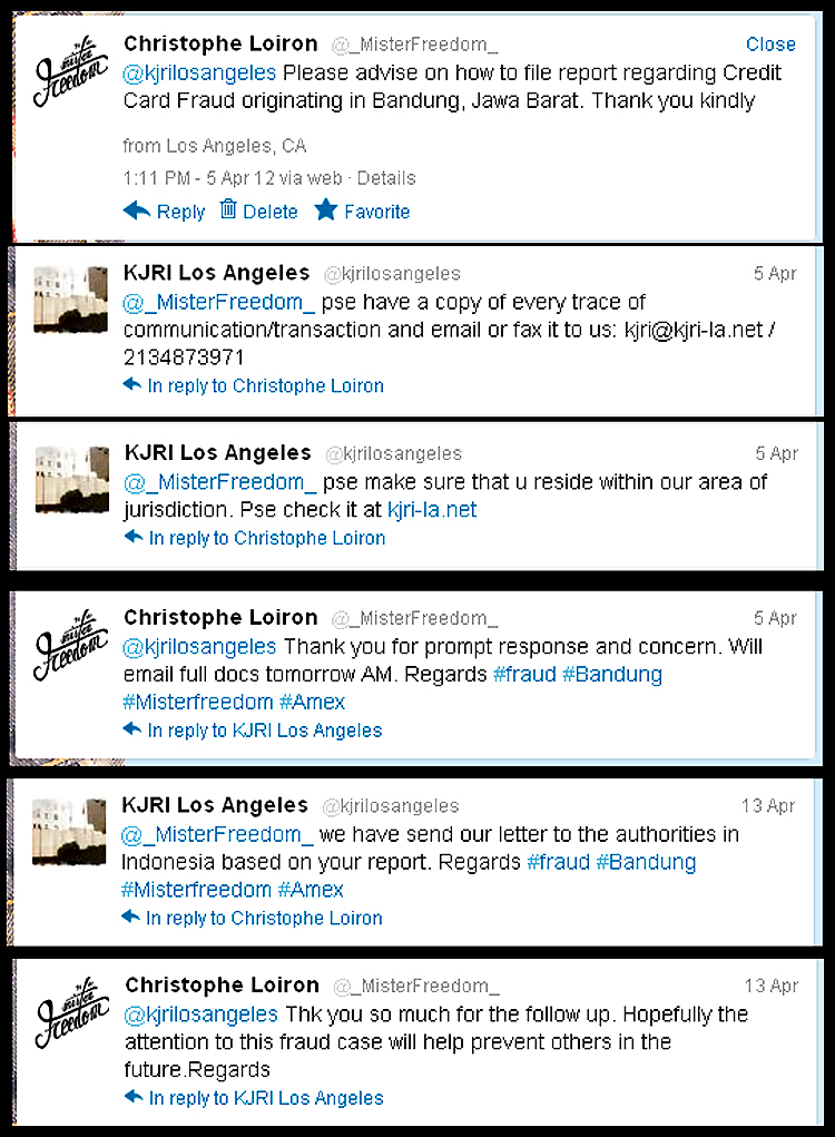 Twitter Conversation Indonesia Consulate (April 2012)