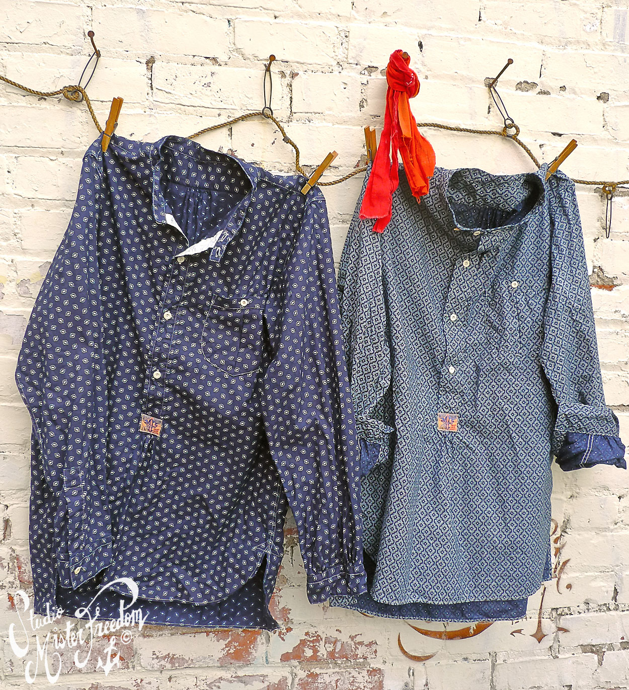 MFSC Calico Trade Shirts wall