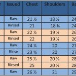 Denim Drover Blouse SIZING chart