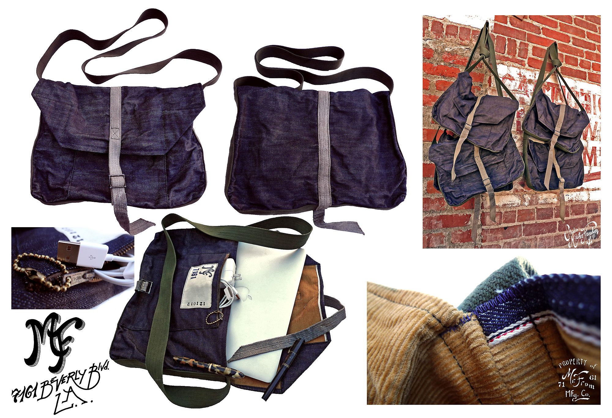 Denim Laptop Haversack ©2012 Mister Freedom®