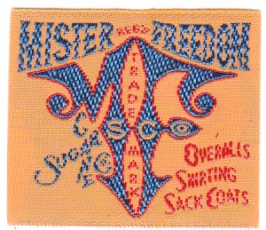 MFSC frontier label Mister Freedom® ©2012