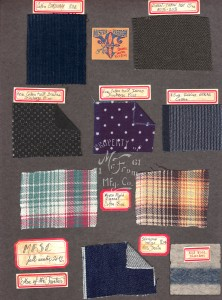 Fabric Swatch Board FW2012 Mister Freedom® MFSC ©2012