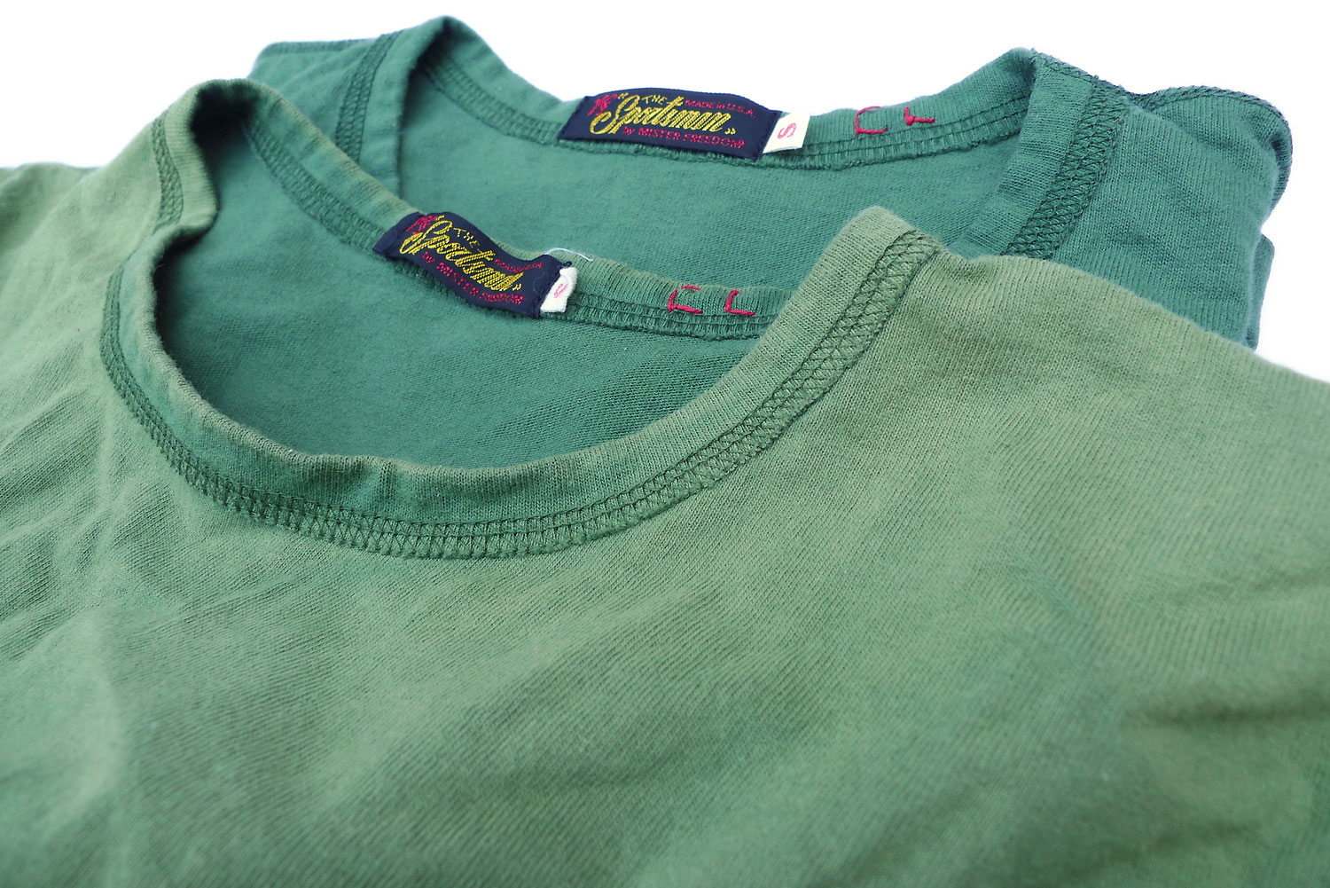 Mister Freedom 174 Skivvy Shirt Sage Green And Navy Blue