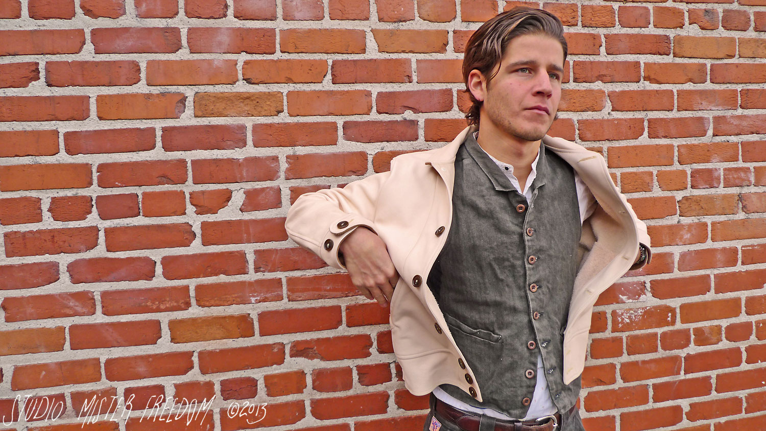 "The ""CAMPUS"" Leather Jacket, Natural Cowhide, Made in USA ..."