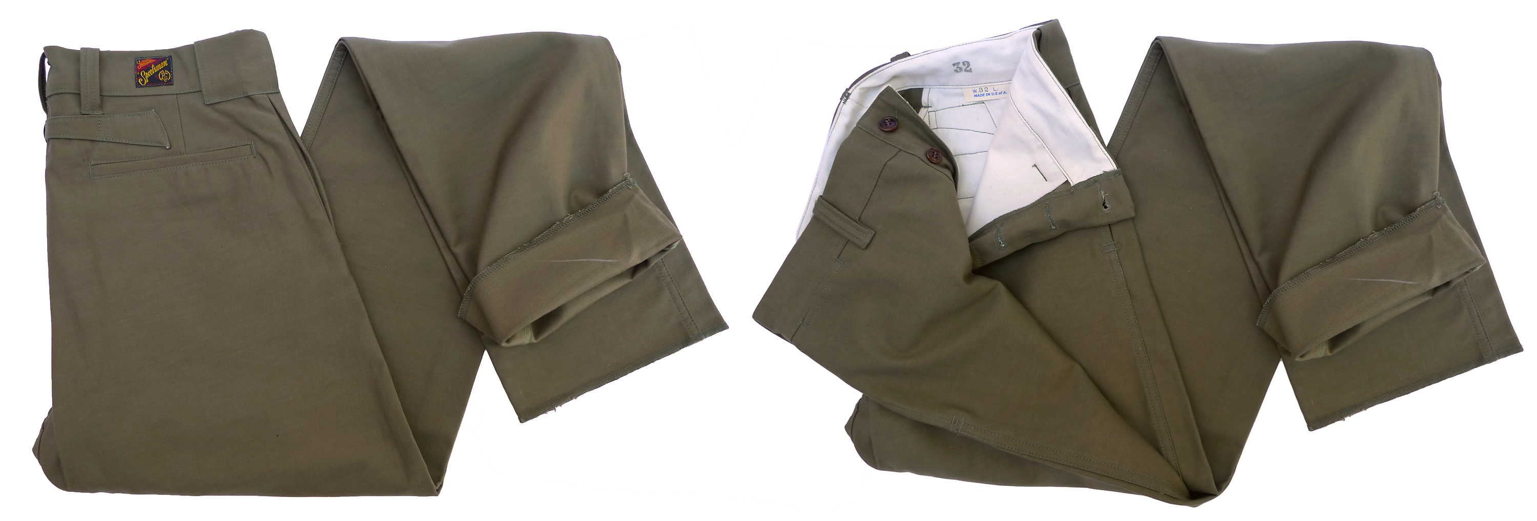 OG 107 Cotton sateen back Sportsman Chinos Fall 2014 Made in USA