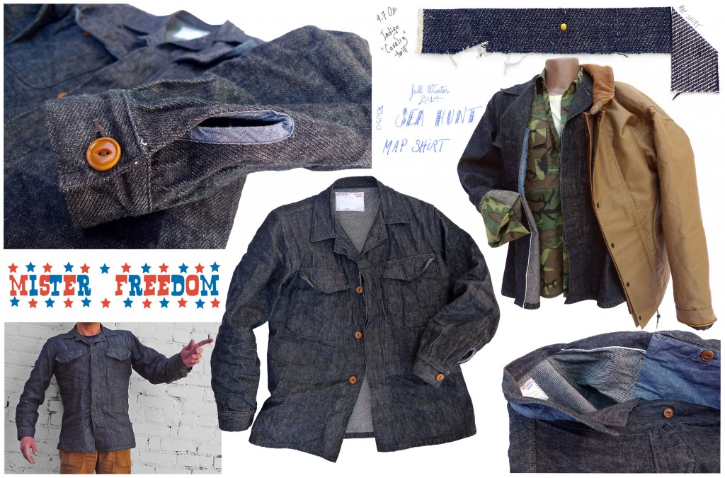 Map Shirt Cavalry Twill Mister Freedom 2014