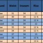 Mister Freedom Deck Pants N-1Z sizing chart