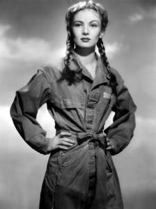 Veronica Lake in M1938 coveralls (1943)