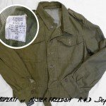 Vintage 1952 British Military utility blouse.