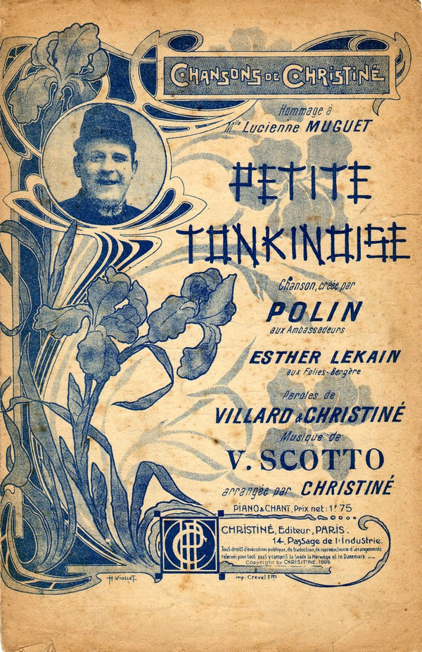 Petite Tonkinoise music sheet, Polin (1906)
