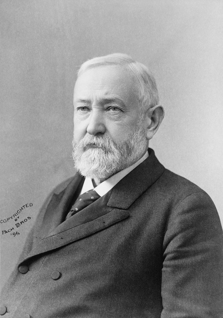 """""""I pity the man who wants a coat so cheap that the man or woman who produces the cloth or shapes it into a garment will starve in the process."""" Benjamin Harrison, President of the U.S., 1889-1893"""