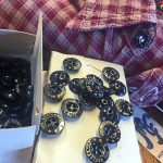 NOS metal buttons for top collar.