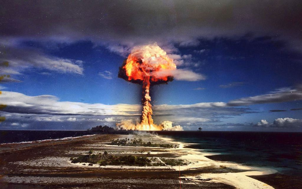 Mururoa nuclear test, 1971. Courtesy Getty Images, Gallerie Bilderwelt.