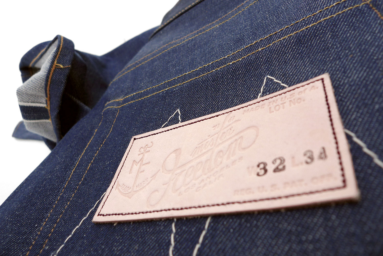 Mister Freedom® CALIFORNIAN indigo blue jeans, Lot 64 OG