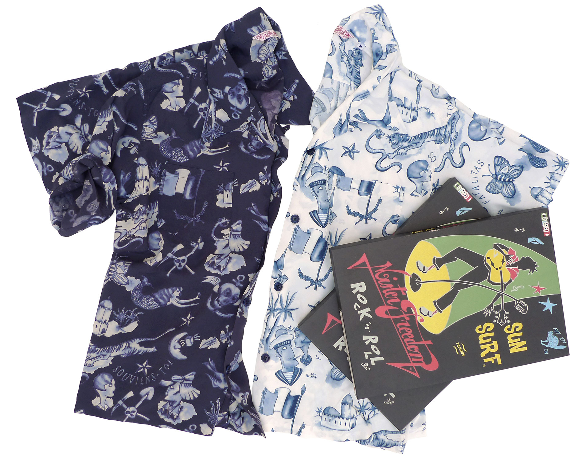 "Mister Freedom x Sun Surf ""BIRIBI"" Rock n Roll shirt Limited"