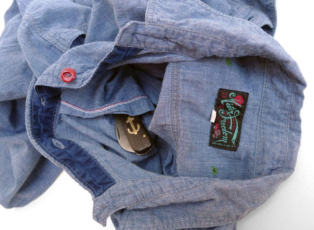 "1b65dc3e60 Mister Freedom® ""SECOYA"" Double-Back Ventilated Work Shirt"