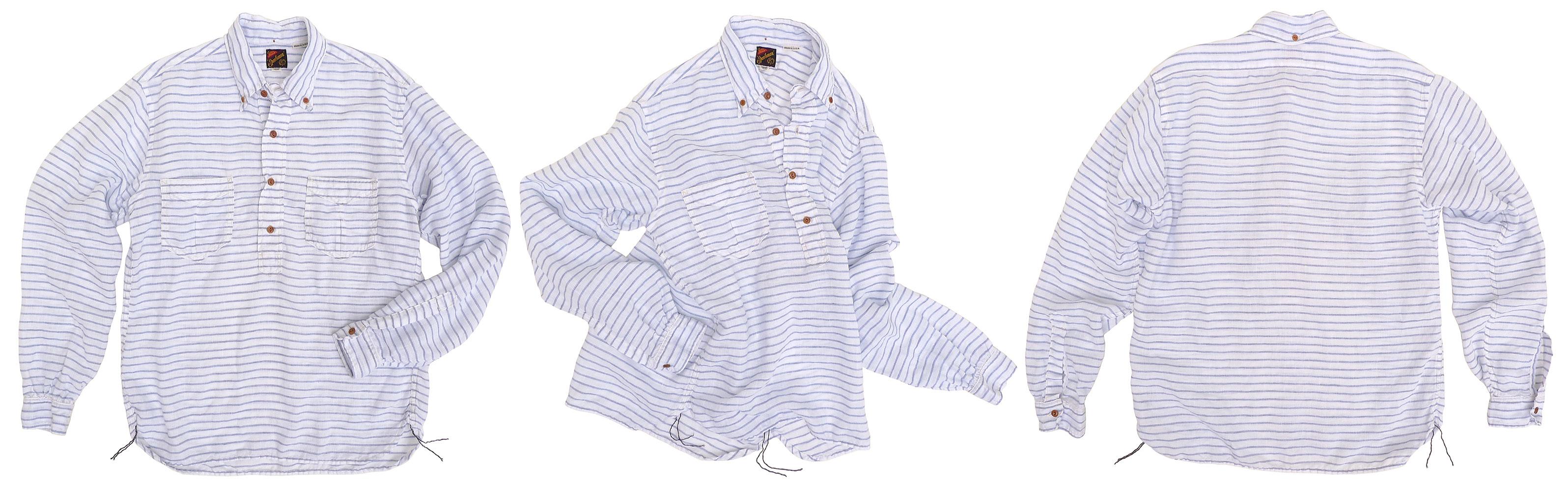 2e8e7d4532 Mister Freedom® BERKELEY pull-over shirt, NOS Italian Linen, Sportsman  Catalog Spring 2019, Made in USA.